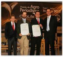 Juan Carlos Garcia recibe Premio de Agroperiodismo Croplife