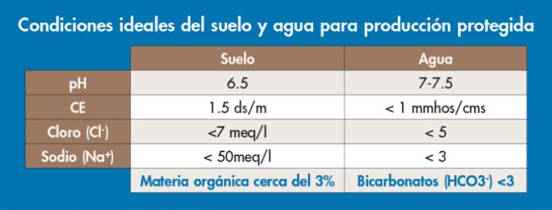 tabla para articulo de invernadero