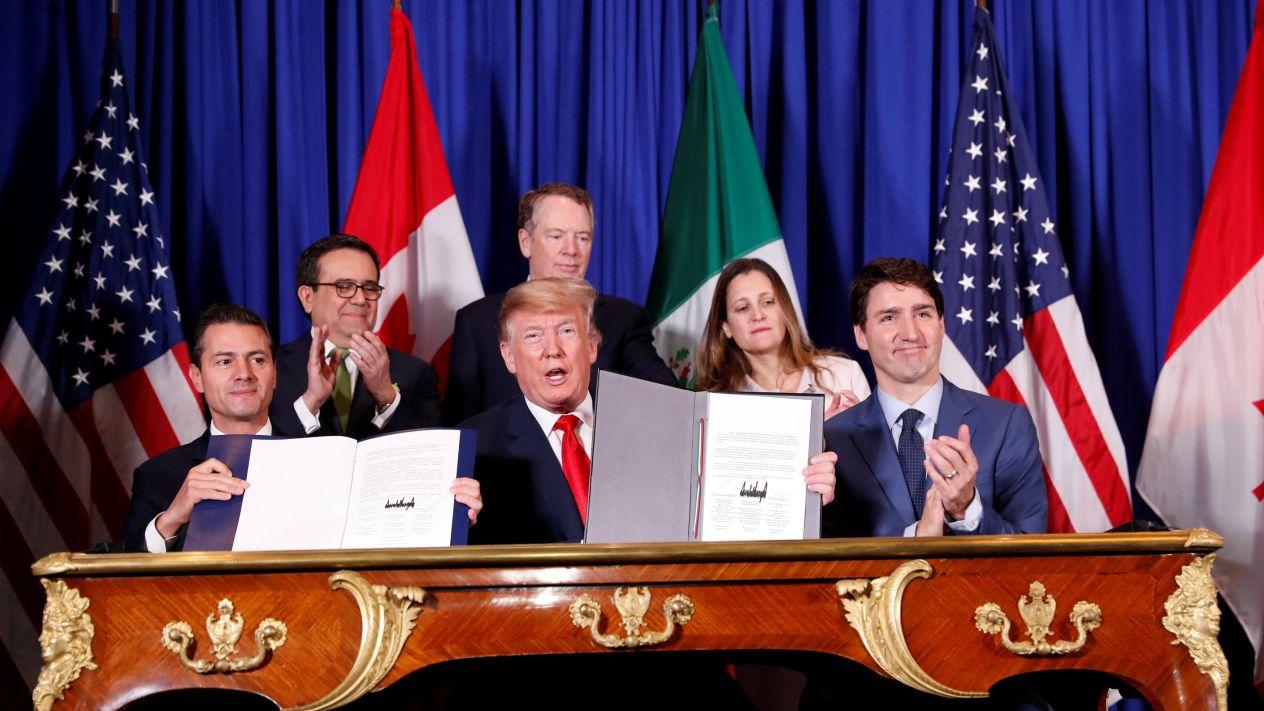 Firman México, EE.UU y Canadá el T-MEC
